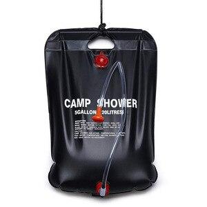 Новейшая 20L походная портативная солнечная душевая сумка с подогревом для кемпинга, сумка для душа, сумка для воды, сумка для купания, для По...