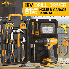 Drill-Driver Workshop-Tool-Kit Complete-Hand-Tool-Sets Hi-Spec Drill-Bits-Tool-Box