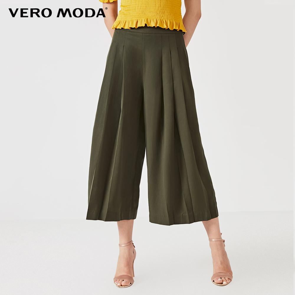 Vero Moda Women's Loose Fit High-rise Wide-leg Capri Pants | 31926J532