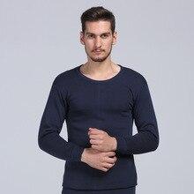 Men Thermal Underwear 2 Pieces Set Thick Velvet Long Sleeves Underwear Male