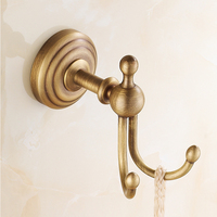 Vintage Hook Antique Brass Wall Mounted Clothes Rack Cloth Hook Wall Hook Robe Hook For Bathroom Accessory BD924