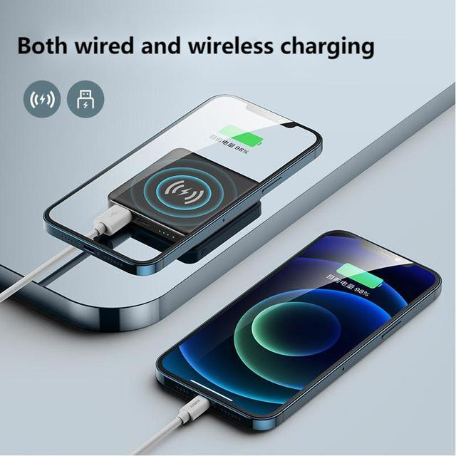 15W Magnetic Built-10000mah Battery Wireless Power Bank For Magsafe iphone 12 Pro Max 12 Mini Portable Charger Mobile Power bank 5