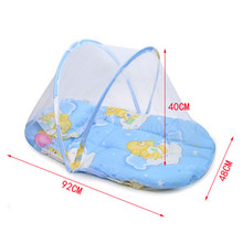 Polyester Cartoon Ger Type 0-12M Portable Baby Crib With Mosquito Net Foldable Mini Bed For Children