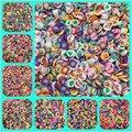 500 шт./лот 3-6 мм, несколько фруктов, бусины из полимерной глины, бусины из полимерной глины для изготовления ювелирных изделий «сделай сам», с...