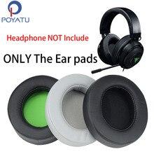 POYATU For Razer Kraken 7.1 Ear Pads Headphone Earpads For Razer Kraken 7.1 Chroma V2 USB Gaming Pro V2 Ear Pads Cushion Cover