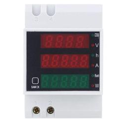 AC 200 450V miernik mocy typ szyny DIN cyfrowy wyświetlacz amperomierz woltomierz w Mierniki wielofunk. od Narzędzia na