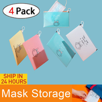 4PCS Eco-Friendly Mask Storage Box packaging Portable Moisture-proof Mouth disposable Face Mask Cover Container Case Organizer