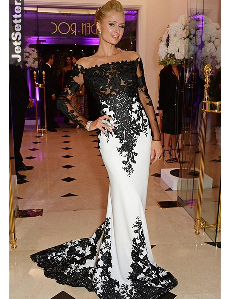 2018 Custom Vestido De Noiva Met Gala Lace Appliques Satin Mermaid Long Sleeve Evening Prom Gown Mother Of The Bride Dresses