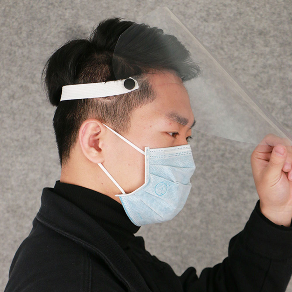 Dust Mask Transparent Dustproof Anti Saliva Face Mask Full Face Shield Visor Outdoor Protective Facial Mask