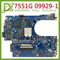 KEFU 09929-1 48.4HP01.011 материнская плата для Acer Aspire 7551 7551G материнская плата для ноутбука MBPT901001 MBBKM01001 100% оригинал протестирован