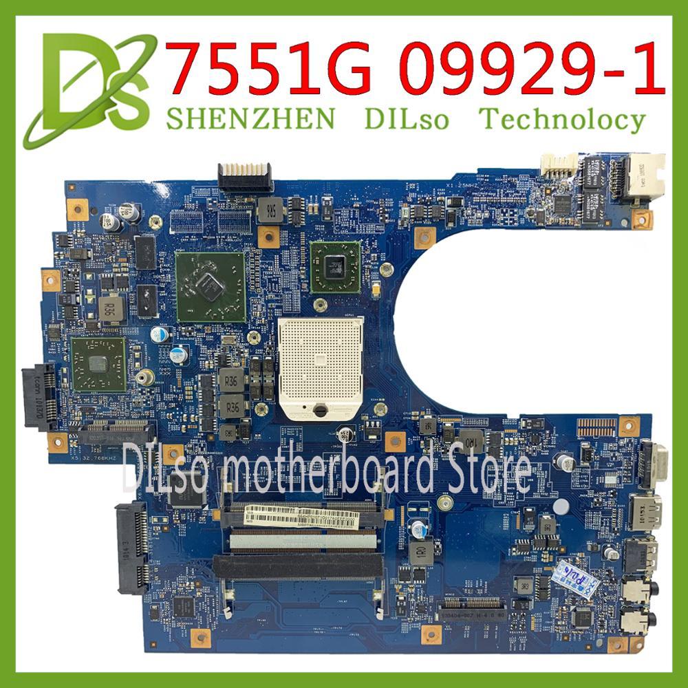 KEFU 09929-1 48.4HP01.011 Motherboard For Acer Aspire 7551 7551G Laptop Motherboard MBPT901001 MBBKM01001 100% Original Tested
