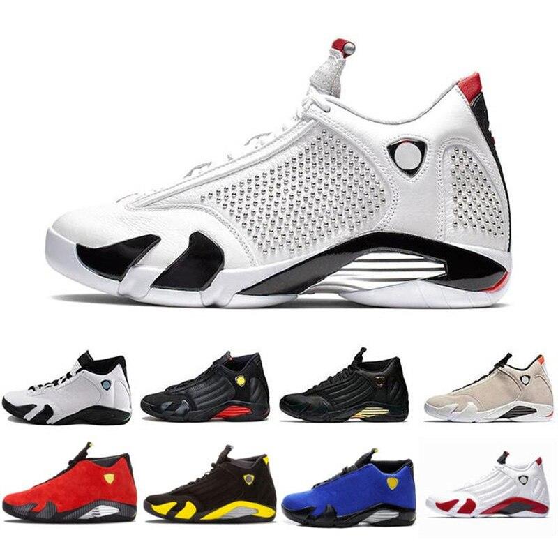 New Arrival High Quality Retro 14 Men Basketball Shoes Black Yellow White Women Sports Sneakers Eur Size 36- 47