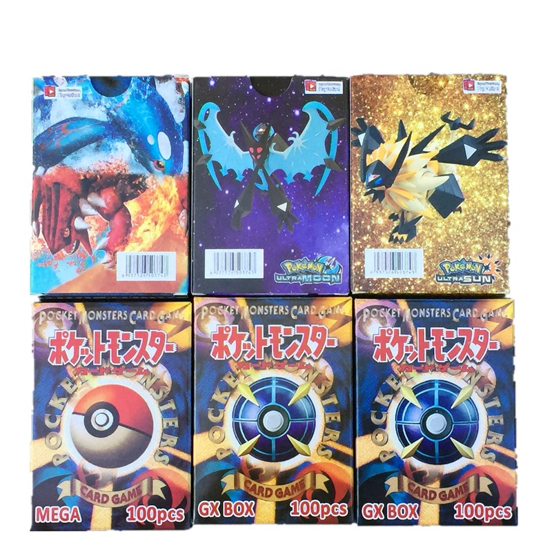 300Pcs=195 GX +25 MEGA +80 EX Card Shining Pokemon Cards Game Collection Trading Cards Game Children Toy