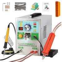 SUNKKO 709AD + Batterie Spot Schweißer Maschine 3 2 KW Automatische Puls 18650 Batterie Schweißen Maschine Mit EINEM High Power Spot schweißen Stift