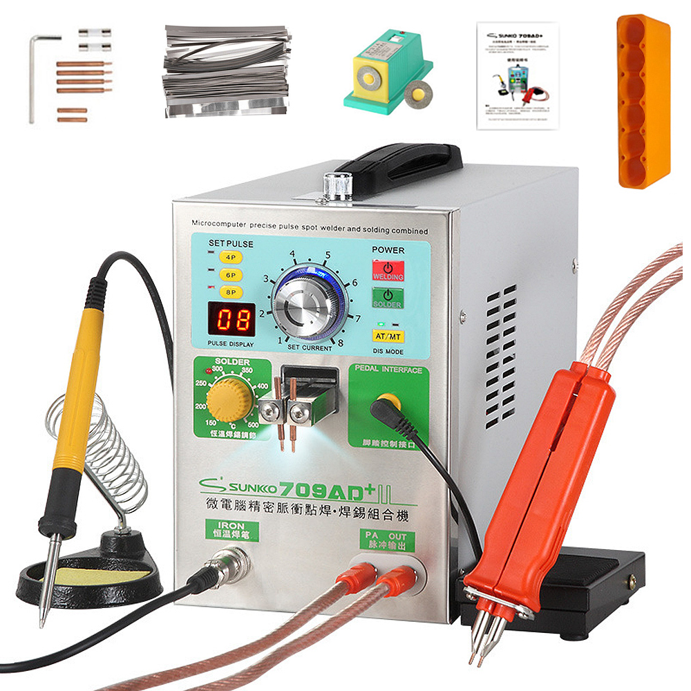 SUNKKO 709AD+ Battery Spot Welder Machine 3.2KW Automatic Pulse 18650 Battery Welding Machine With A High Power Spot Welding Pen