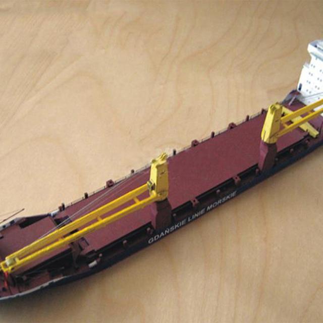 1:400 Gdansk Cargo Ship DIY Handcraft 3D Paper Card Model Sets 3