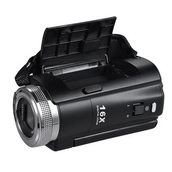 V12 Digital Video Camera 1080P Full HD 16X Digital Zoom Recording Camcorder w/3.0 Inch Rotatable LCD Screen Support Night Vision