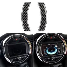 Car Console Navigation Screen Frame Trim Internal carbon fiber sticker for Mini Cooper Countryman F60 57BA(China)