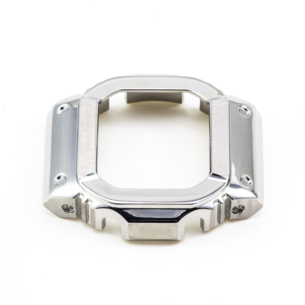 35 Anniversary Silver Watch Set DW5600/5610 Watchband Bezel/Case Metal Stainless Steel Strap