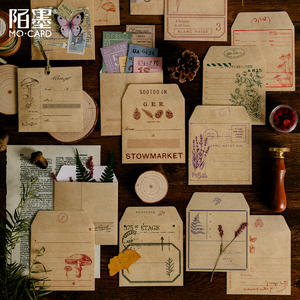 Envelope-Paper-Bag Stationery Mo.card Mini Natural-Collection Wholesale 1-Lot--18sets