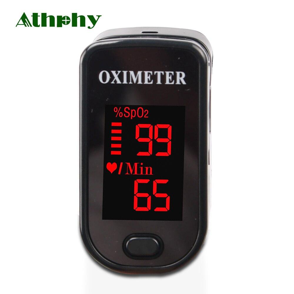 Athphy nouveau doigt oxymètre de pouls LED bout des doigts oxygène Oximetro Portable pulso de dedo saturateur Pulsioximetro ménage