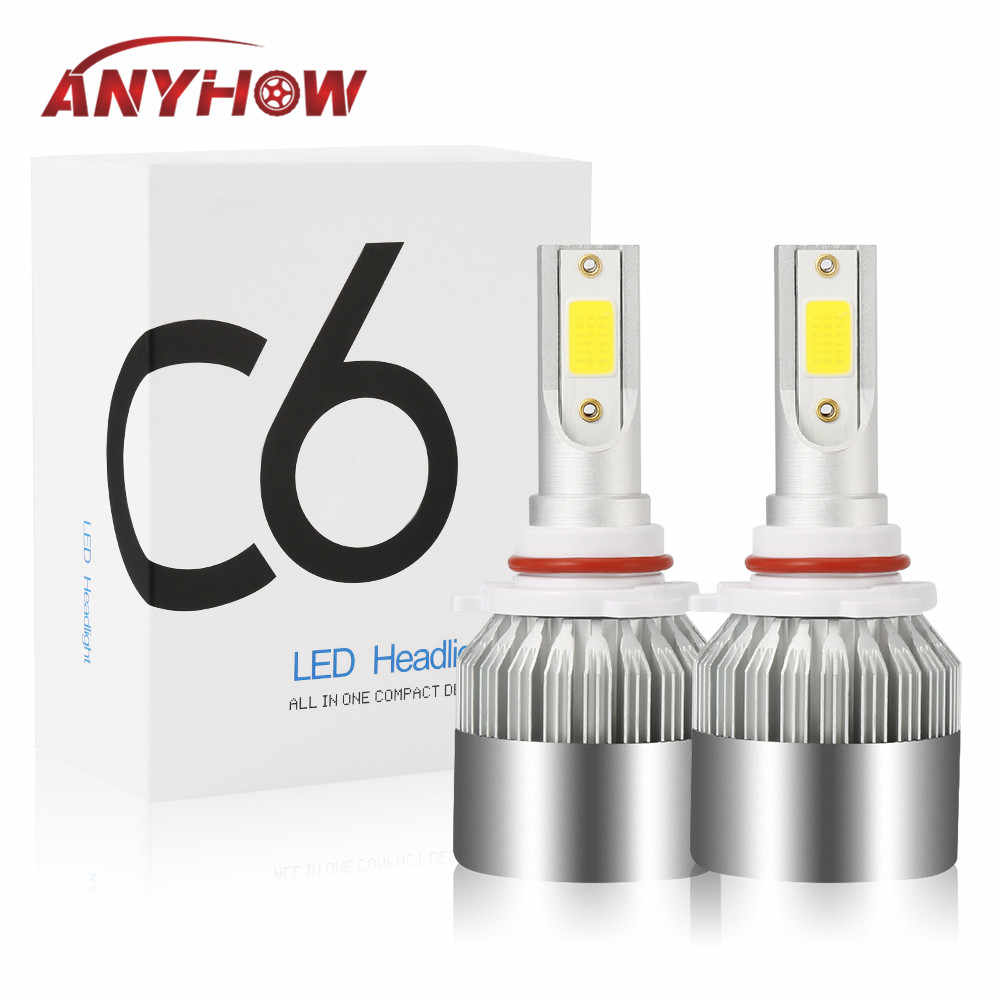 Car LED Headlight H7 H4 led Headlamps Auto Light H1 Fog Bulbs Automotive Lamp H11 9005 9006 COB 8000LM Headlight Ice Blue