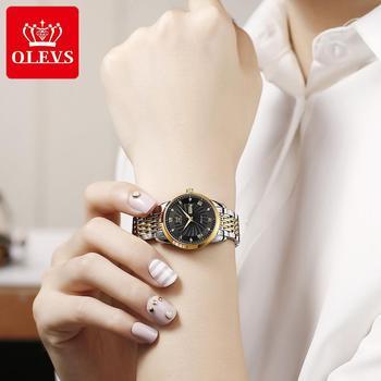 OLEVS Luxury Brand Women Automatic Mechanical Watches Steel Watch Band Watch Waterproof Simple Watch For Women Gift for Women 3