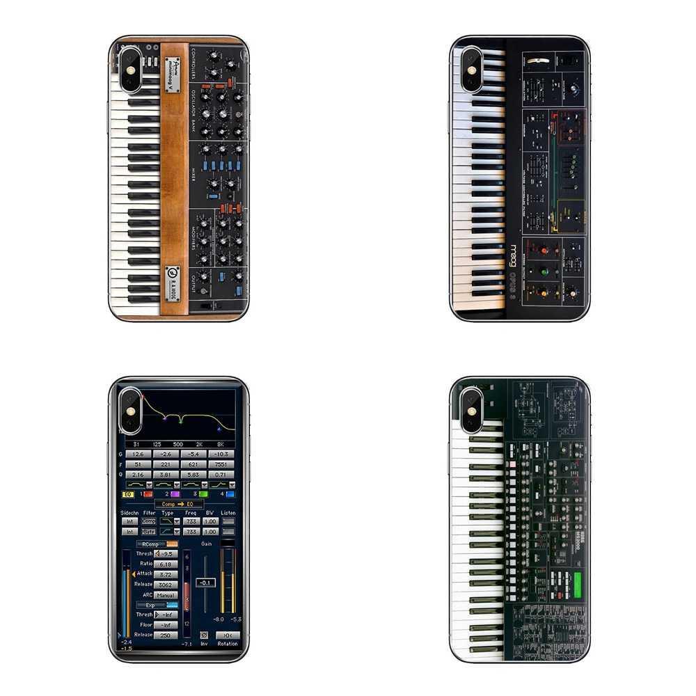 TPU Silicone Cổ Điển Synth Bộ Tổng Hợp Moog Dành Cho Sony Xperia Z Z1 Z2 Z3 Z5 Nhỏ Gọn M2 M4 M5 C4 e3 T3 Xa Huawei Mate 7 8 Y3II