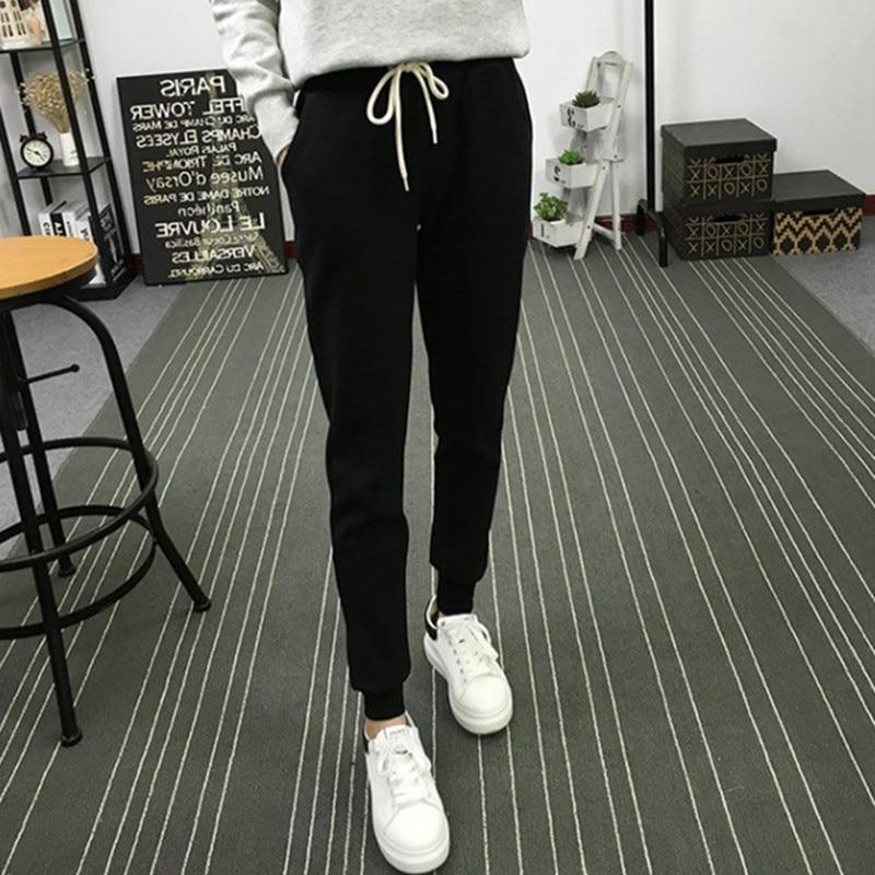 Slim Fit Korean-style Casual Athletic Pants Women's Skinny Pants Sweatpants Harem Pants Student Casual Trousers Fashion