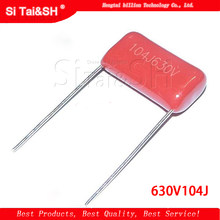 CBB 104J 630V 100NF 0.1UF P10mm Metallized Film Capacitor  T*sh 10pcs