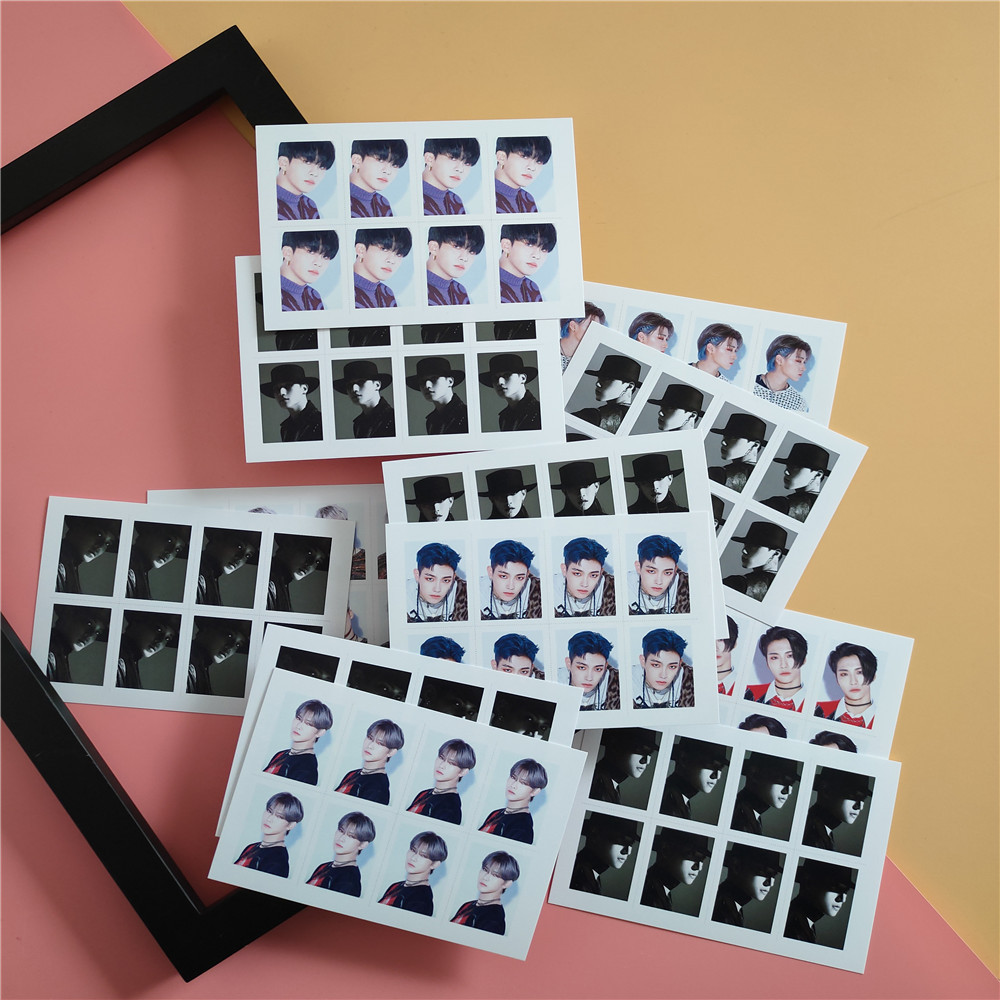 2pcs/set Kpop ATEEZ Photo Card 1 Inch Photo NEW ARRIVALS