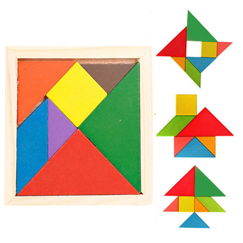 Puzzle Games Montessori Toys 3D Puzzle  Wooden Jigsaw Baby Kids Children Education Maze Sensory Math Toy Tangram Puzzles Gifts