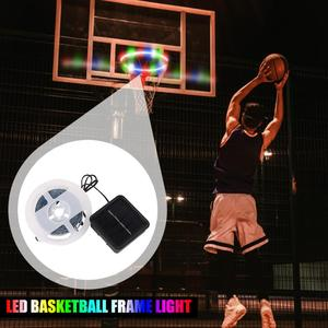 1 PCS LED Basket Hoop Solar Basketball Rim Playing At Night Shooting Accessories Attachment for Kids Adult Ball Sport(China)