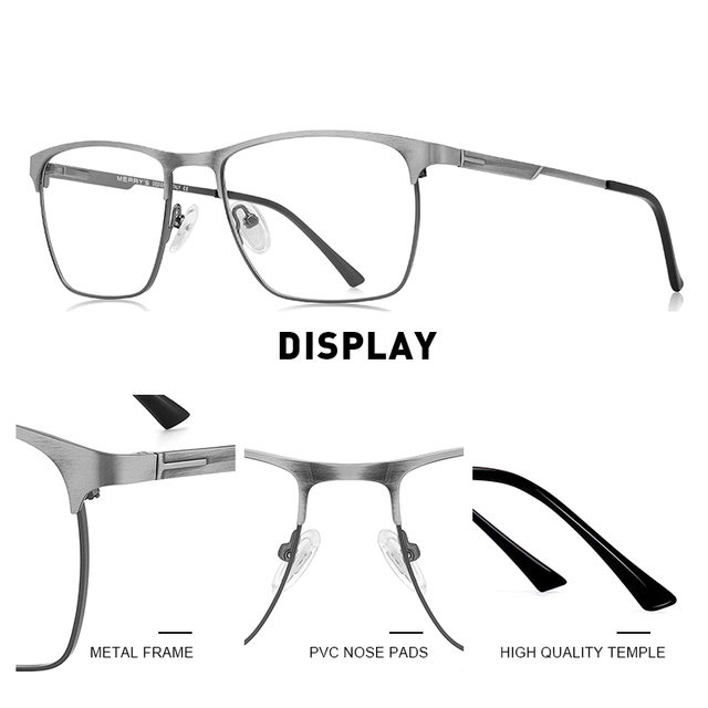 MERRYS Titanium Alloy Optics Glasses  1