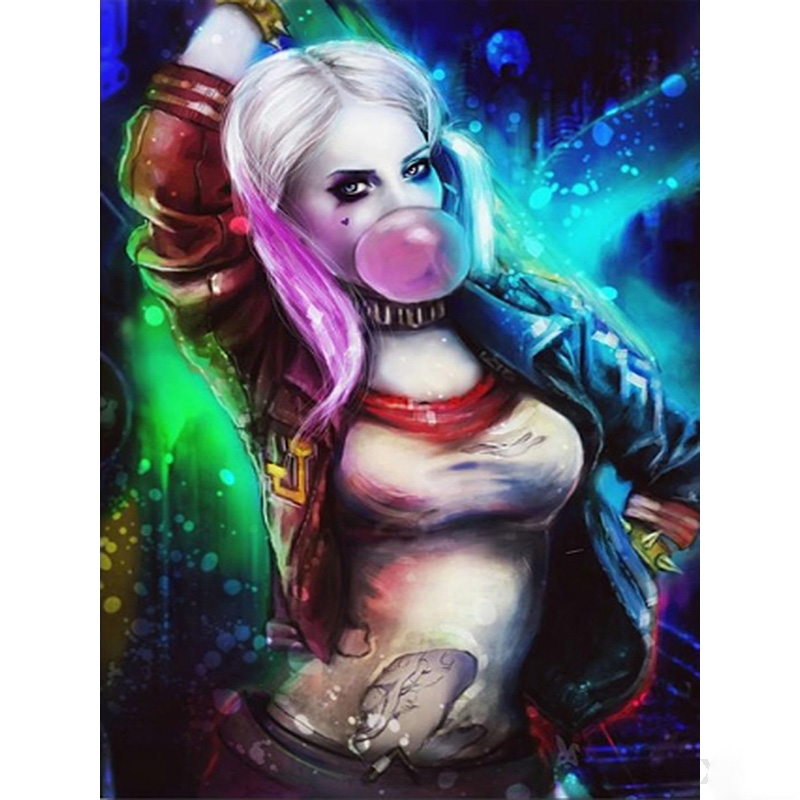 5d Diy <font><b>Diamond</b></font> <font><b>Painting</b></font> New Arrivals Superhero <font><b>Sexy</b></font> Clown Girl Harley Quinn Rhinestones Cross Stitch Mosaic <font><b>Diamond</b></font> Embroidery image