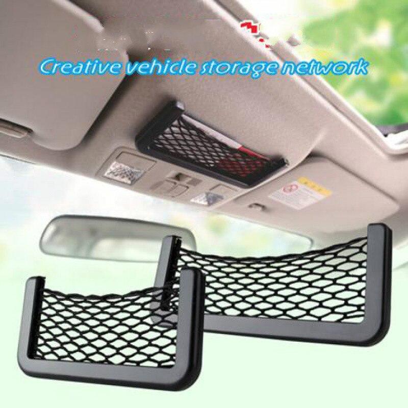 1x Car Auto Interior Body Edge ABS Elastic Net Storage Phone Holder Accessories