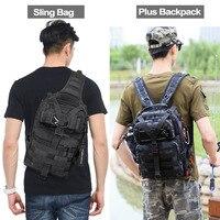Bolsa de asalto táctica de 20L, mochila militar de eslinga para pesca, Ejército Molle para exteriores, senderismo, Camping, caza, bolsa de viaje XA1A