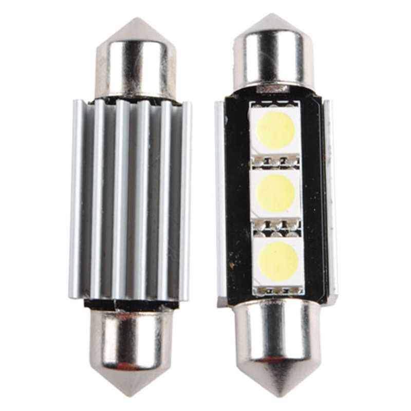 Lampu 36 Mm 3 5050 SMD LED Memperhiasi Lampu CANBUS Kesalahan Gratis C5W Auto Lampu Lampu Bohlam DC 12V putih