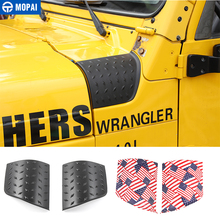 MOPAI Car Stickers for Jeep Wrangler TJ Car Hoods Angle Wrap Cover Body Side Engine Cover Protect for Wragnler TJ 1997 2006