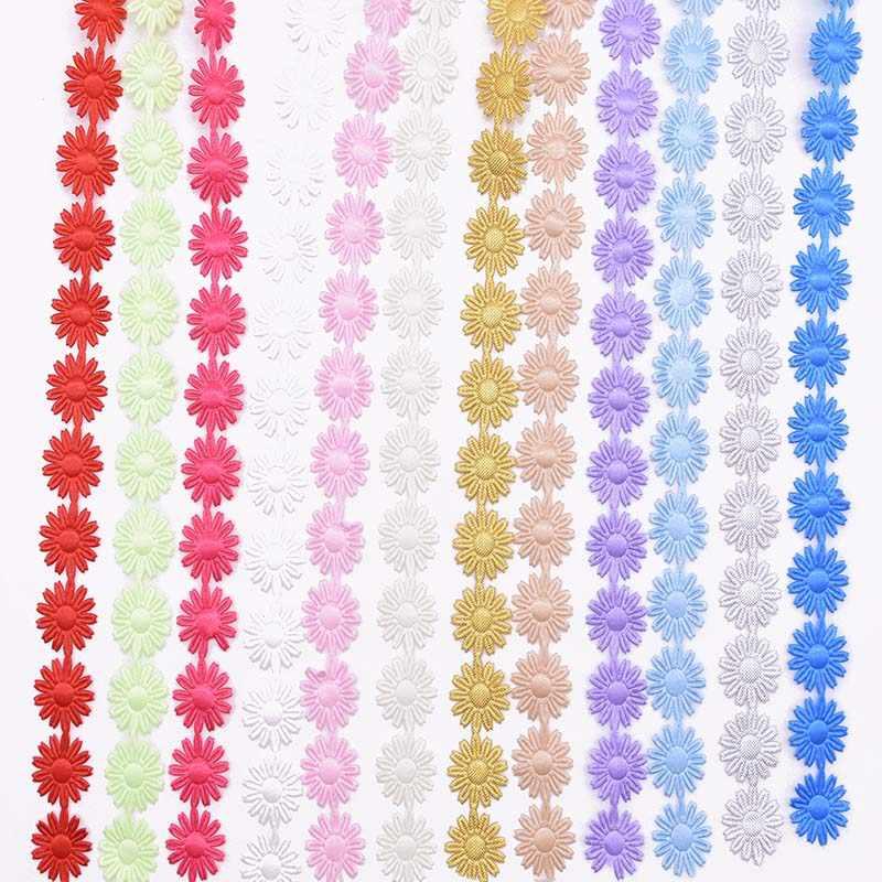 5 חצר פרח סרט מוצק צבע תחרת זמירה סרט קלטת DIY אריזת מתנה קישוט תפירת אביזרי חתונה מלאכת מתנת אריזה