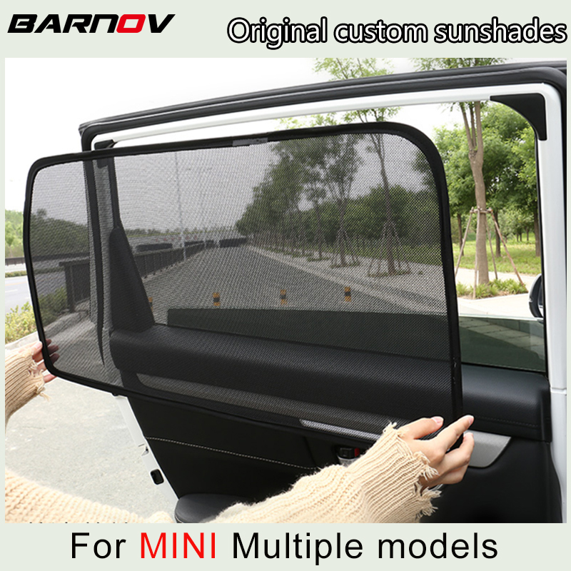 Car Curtain Window SunShades Mesh Shade Blind Original Custom For MINI COUNTRYMAN R60 F60 COOPERS CLUBMAN R55 R50 R53 F55 F56