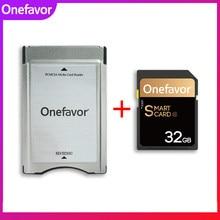 Onefavor 32gb 16gb u3 sdhc memória 90 mb/s cartão sd com adaptador leitor de cartão pcmcia para mercedes benz mp3 cartão de memória