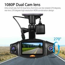 R310 2.7 Inch Car DVR Camera Car DVR GPS Dash Cam Recorder HD 1080P Night Vision IR Dual Lens GPS G-Sensor #B hactivol car dvr 4 inch ips screen auto camera dual lens fhd 1080p dash cam video recorder night vision g sensor 170 degree