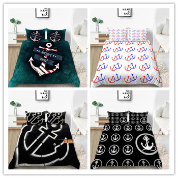 New Products Anchor Pringting Bedding Sets New Style Twin Full Queen Size For Childern Teens Adults
