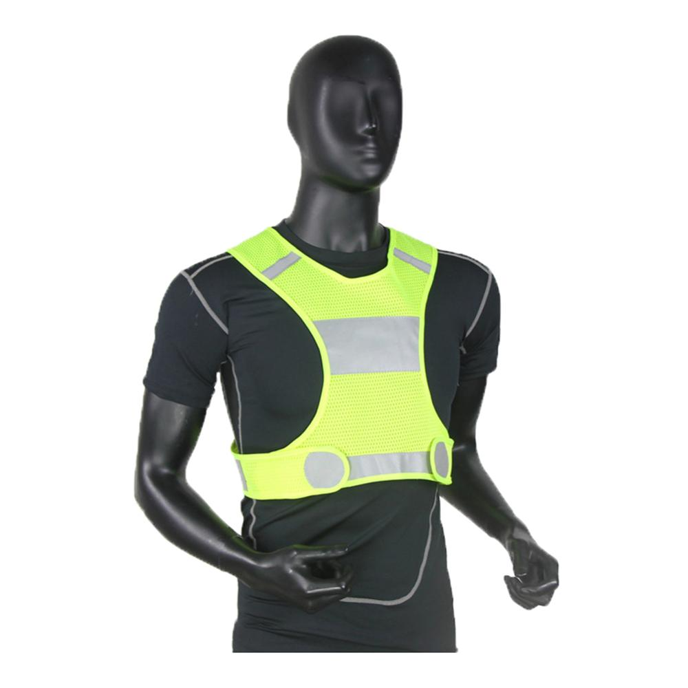 Breathable Reflective Vest Compact And Portable Carry Convenient Adjustable High Visibility Vest For Cycling Sports