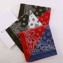 Half Black And White Color Paisley Bandanas Hip Hop Street Dance Punk Personality Scarf