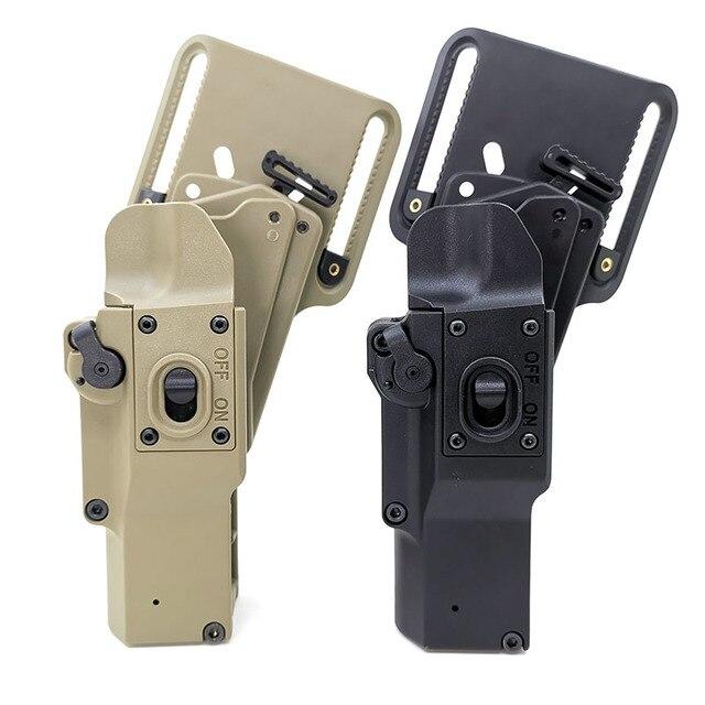 Arma táctica funda de caza. Compatible con pistola, se puede almacenar con (linterna XH15/XH35/X300UH B) para el usuario del lado derecho