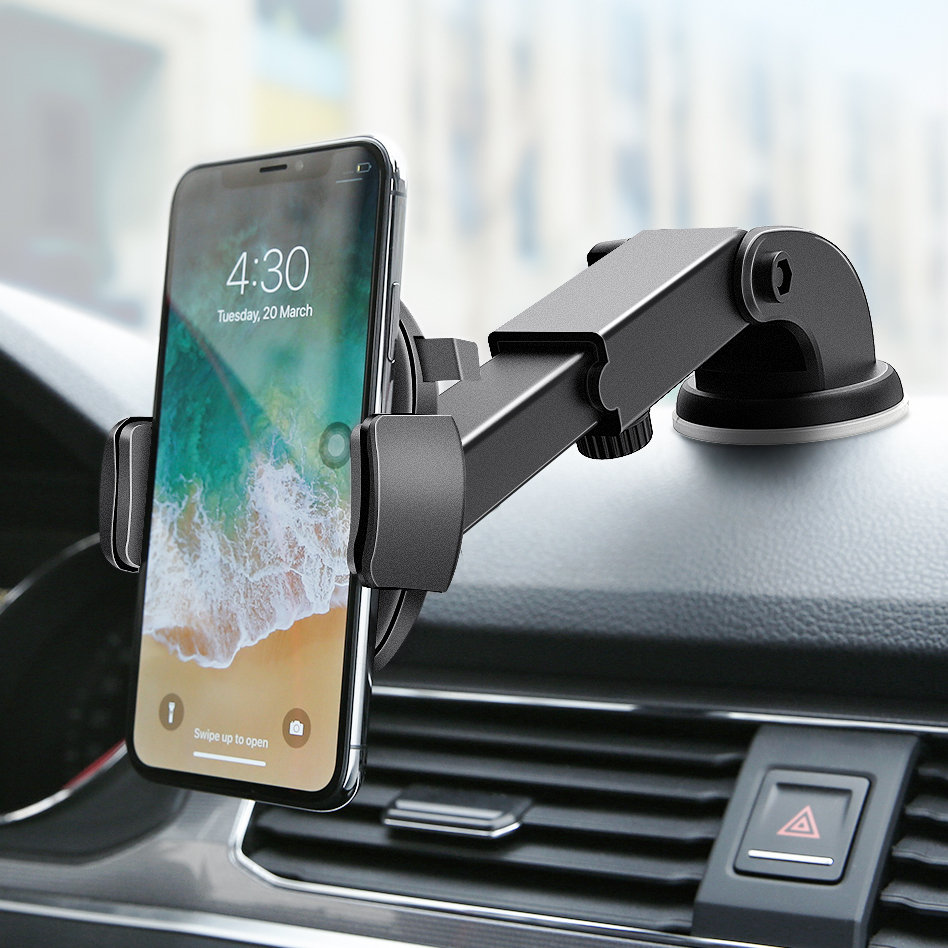 10W Qi Car Wireless Charger For iPhone Xr X Gravity Sucker Car Phone Holder Fast Charging For Samsung S10 S9 Adjustable Mount image