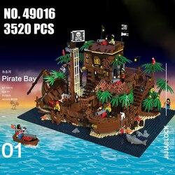 В наличии 21322 Пираты Barracuda Bay 698998 49016 серия идей пиратской тематики 3520 шт модели строительные блоки кирпичи игрушки