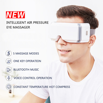 New Smart Airbag Vibration Eye Massager Care Instrument Protector Hot Compress Bluetooth Fatigue Massage Glasses - discount item  36% OFF Health Care